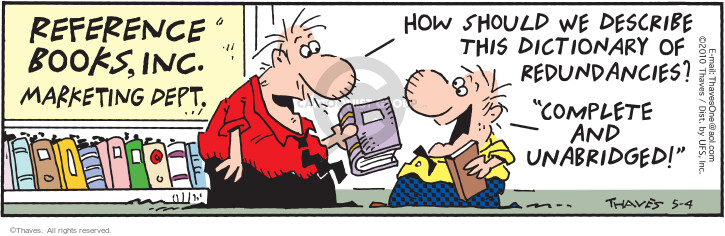 Comic Strip Bob Thaves Tom Thaves  Frank and Ernest 2010-05-04 complete