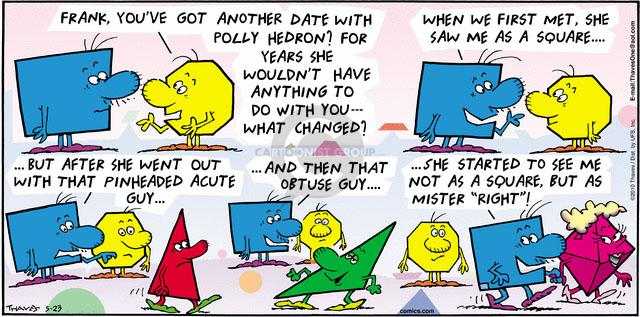 Comic Strip Bob Thaves Tom Thaves  Frank and Ernest 2010-05-23 shape