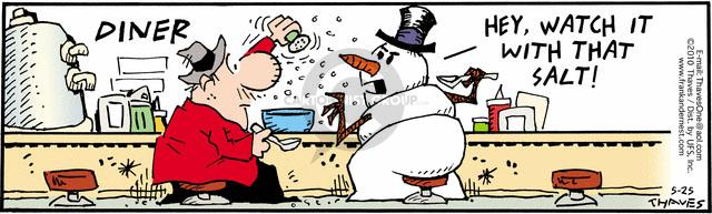 Comic Strip Bob Thaves Tom Thaves  Frank and Ernest 2010-05-25 melt