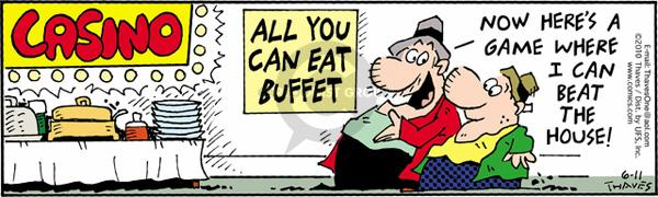 Comic Strip Bob Thaves Tom Thaves  Frank and Ernest 2010-06-11 food consumption