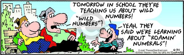 Comic Strip Bob Thaves Tom Thaves  Frank and Ernest 2010-06-30 math education