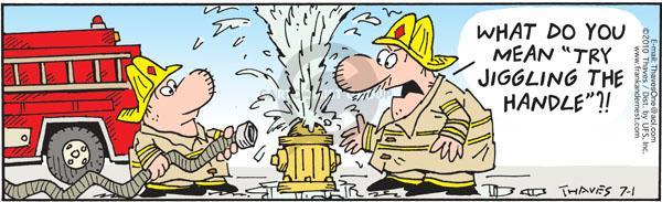 Comic Strip Bob Thaves Tom Thaves  Frank and Ernest 2010-07-01 leak