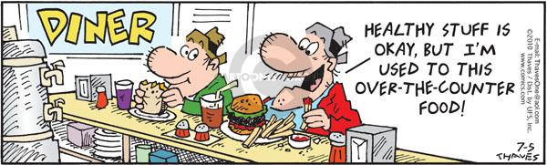 Comic Strip Bob Thaves Tom Thaves  Frank and Ernest 2010-07-05 nutrition