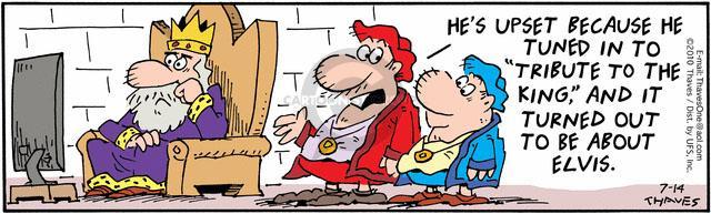 Comic Strip Bob Thaves Tom Thaves  Frank and Ernest 2010-07-14 upset