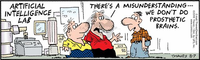 Comic Strip Bob Thaves Tom Thaves  Frank and Ernest 2010-08-07 brain