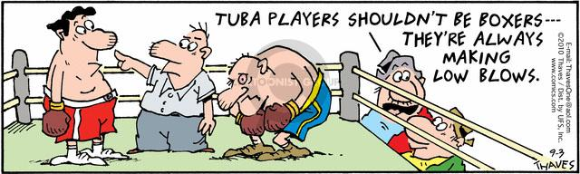 Cartoonist Bob Thaves Tom Thaves  Frank and Ernest 2010-09-03 boxing