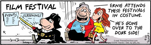 Comic Strip Bob Thaves Tom Thaves  Frank and Ernest 2010-09-10 dark