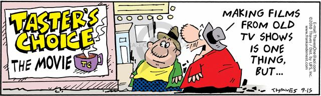 Comic Strip Bob Thaves Tom Thaves  Frank and Ernest 2010-09-15 movie marketing