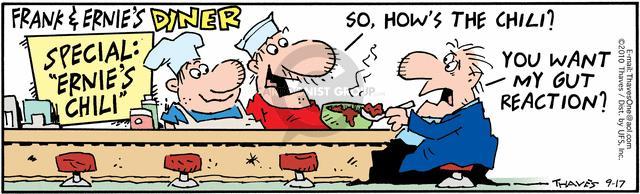 Cartoonist Bob Thaves Tom Thaves  Frank and Ernest 2010-09-17 phrase
