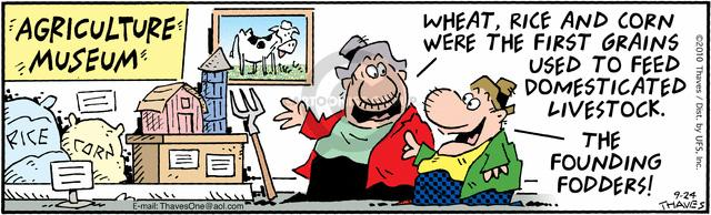 Comic Strip Bob Thaves Tom Thaves  Frank and Ernest 2010-09-24 corn