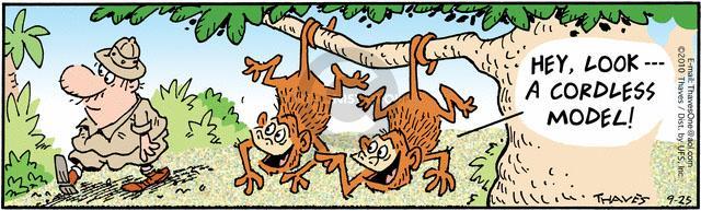Comic Strip Bob Thaves Tom Thaves  Frank and Ernest 2010-09-25 walker