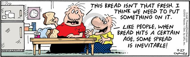 Comic Strip Bob Thaves Tom Thaves  Frank and Ernest 2010-09-27 shape