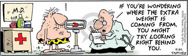 Comic Strip Bob Thaves Tom Thaves  Frank and Ernest 2010-09-30 physician