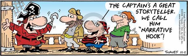 Cartoonist Bob Thaves Tom Thaves  Frank and Ernest 2010-10-02 hook