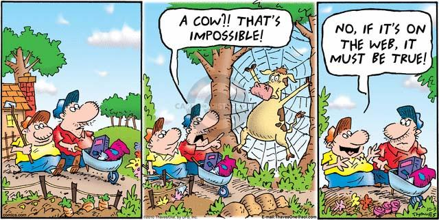 Comic Strip Bob Thaves Tom Thaves  Frank and Ernest 2010-10-03 reality
