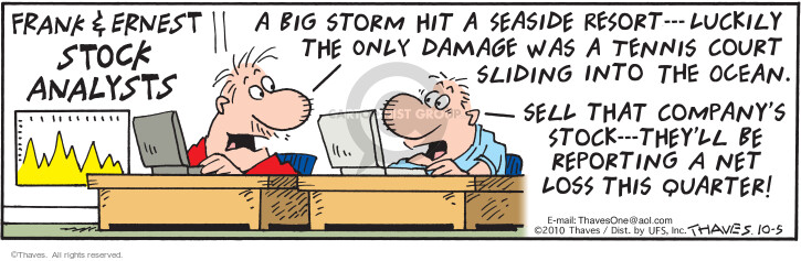 Comic Strip Bob Thaves Tom Thaves  Frank and Ernest 2010-10-05 storm
