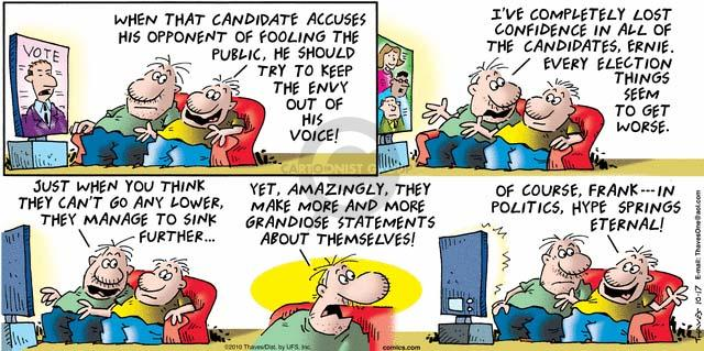Comic Strip Bob Thaves Tom Thaves  Frank and Ernest 2010-10-17 election