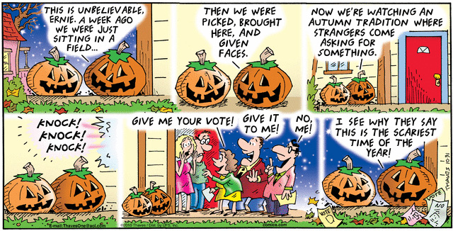 Comic Strip Bob Thaves Tom Thaves  Frank and Ernest 2010-10-31 election