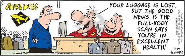 Comic Strip Bob Thaves Tom Thaves  Frank and Ernest 2010-11-19 air travel
