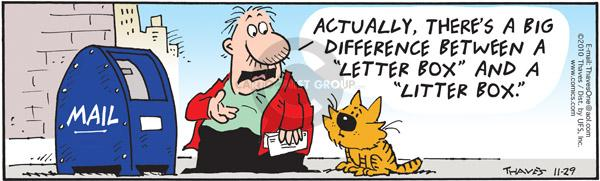 Comic Strip Bob Thaves Tom Thaves  Frank and Ernest 2010-11-29 big cat