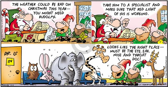 Comic Strip Bob Thaves Tom Thaves  Frank and Ernest 2010-12-12 red