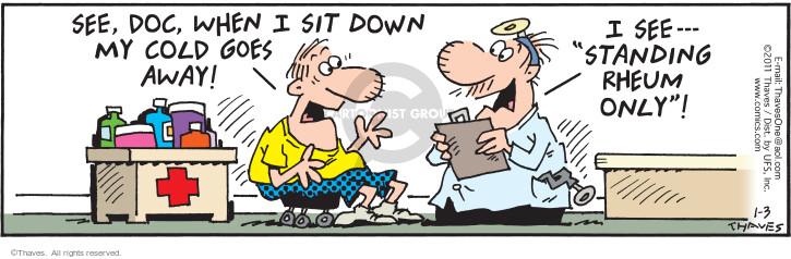 Comic Strip Bob Thaves Tom Thaves  Frank and Ernest 2011-01-03 medical