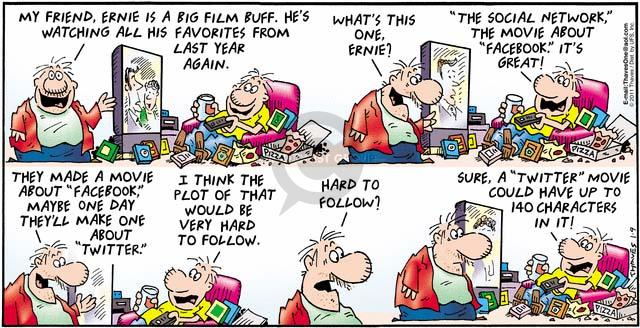 Comic Strip Bob Thaves Tom Thaves  Frank and Ernest 2011-01-09 one year