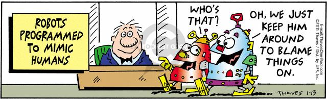 Comic Strip Bob Thaves Tom Thaves  Frank and Ernest 2011-01-13 software programming