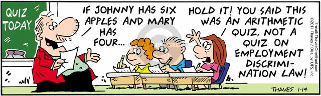 Comic Strip Bob Thaves Tom Thaves  Frank and Ernest 2011-01-14 math test
