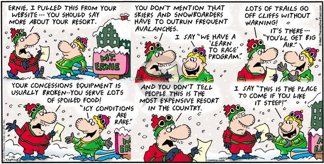 Cartoonist Bob Thaves Tom Thaves  Frank and Ernest 2011-01-16 food safety