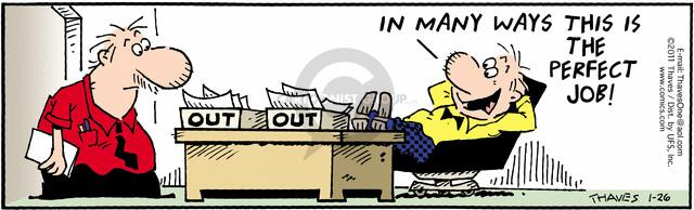 Comic Strip Bob Thaves Tom Thaves  Frank and Ernest 2011-01-26 employee productivity