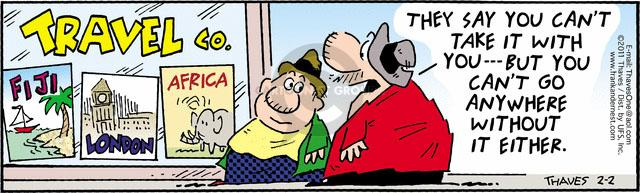Comic Strip Bob Thaves Tom Thaves  Frank and Ernest 2011-02-02 vacation travel