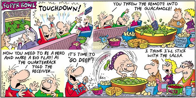 Comic Strip Bob Thaves Tom Thaves  Frank and Ernest 2011-02-06 Super Bowl