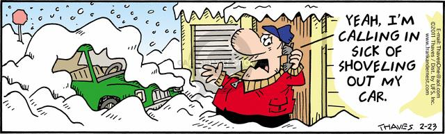 Comic Strip Bob Thaves Tom Thaves  Frank and Ernest 2011-02-23 ill