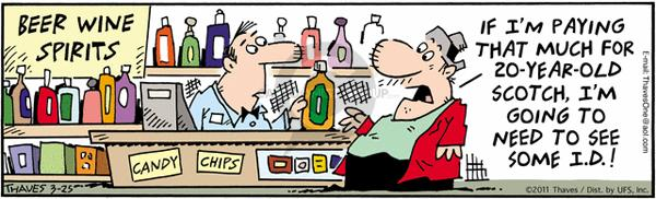 Comic Strip Bob Thaves Tom Thaves  Frank and Ernest 2011-03-25 wine