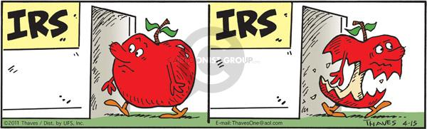 Comic Strip Bob Thaves Tom Thaves  Frank and Ernest 2011-04-15 bob for apples