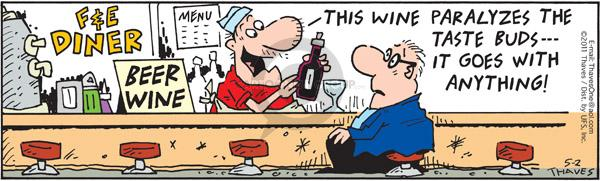 Comic Strip Bob Thaves Tom Thaves  Frank and Ernest 2011-05-02 wine
