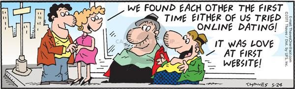 Cartoonist Bob Thaves Tom Thaves  Frank and Ernest 2011-05-24 online date