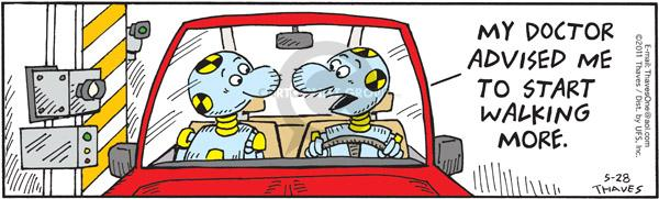 Comic Strip Bob Thaves Tom Thaves  Frank and Ernest 2011-05-28 automotive