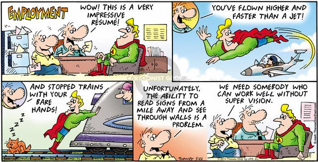 Comic Strip Bob Thaves Tom Thaves  Frank and Ernest 2011-05-22 job interview