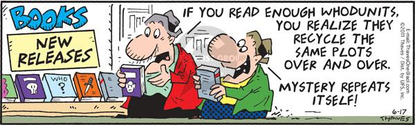 Comic Strip Bob Thaves Tom Thaves  Frank and Ernest 2011-06-17 reading book