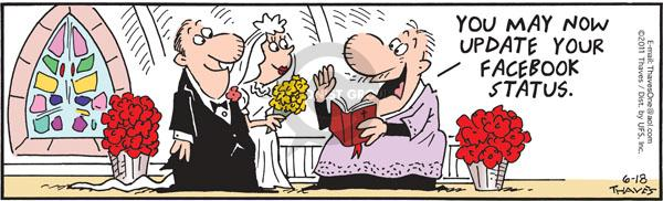 Comic Strip Bob Thaves Tom Thaves  Frank and Ernest 2011-06-18 wedding