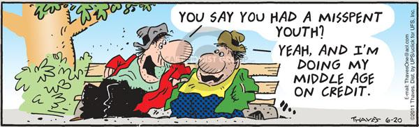 Comic Strip Bob Thaves Tom Thaves  Frank and Ernest 2011-06-20 personal budget