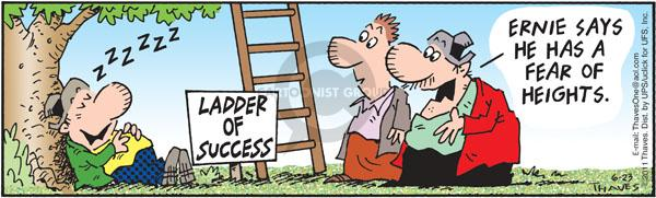 Comic Strip Bob Thaves Tom Thaves  Frank and Ernest 2011-06-23 ladder of success