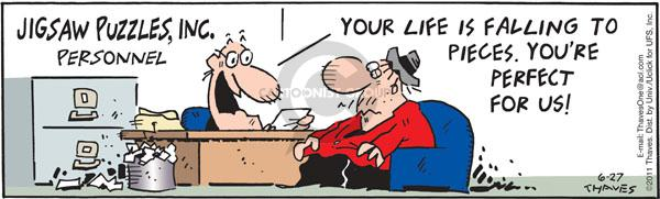 Comic Strip Bob Thaves Tom Thaves  Frank and Ernest 2011-06-27 job interview