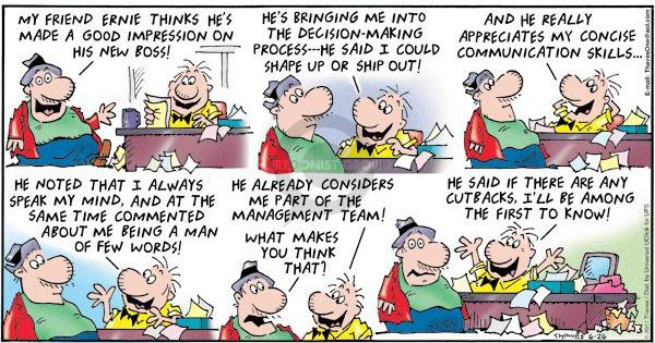 Comic Strip Bob Thaves Tom Thaves  Frank and Ernest 2011-06-26 ship