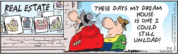 Comic Strip Bob Thaves Tom Thaves  Frank and Ernest 2011-07-09 dream