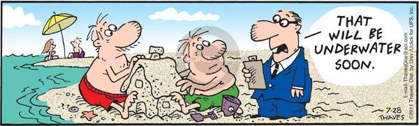 Cartoonist Bob Thaves Tom Thaves  Frank and Ernest 2011-07-28 phrase
