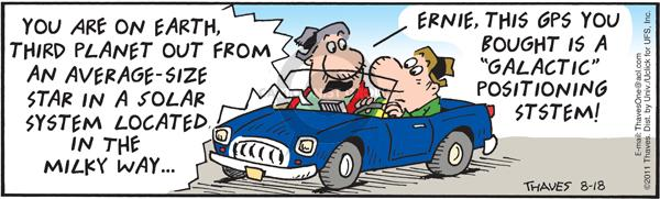 Comic Strip Bob Thaves Tom Thaves  Frank and Ernest 2011-08-18 automotive