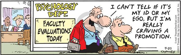 Comic Strip Bob Thaves Tom Thaves  Frank and Ernest 2011-09-20 college teacher
